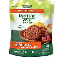 Morningstar Farms Veggie Breakfast Original Sausage Patties Vegetarian (6 Count) 8 oz