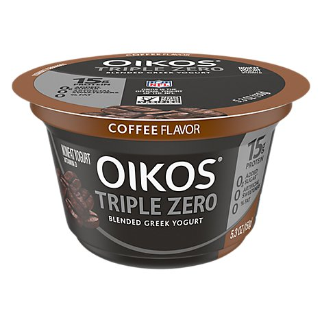 Oikos Triple Zero Greek Yogurt Blended Nonfat Coffee - 5.3 Oz