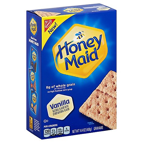Honey Maid Grahams Vanilla - 14.4 Oz