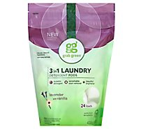 Grab Green Laundry Detergent Pods 3 In 1 Lavender With Vanilla 24 Count - 15.2 Oz