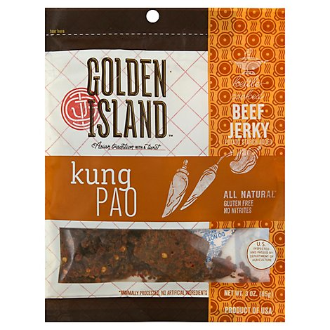 Golden Island Beef Jerky Kettle Cooked Kung Pao - 3 Oz