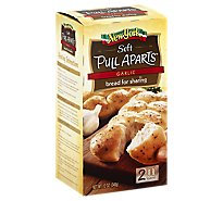 New York Bakery Pull Aparts Soft Loaves Bread For Sharing Garlic 2 Count - 12 Oz