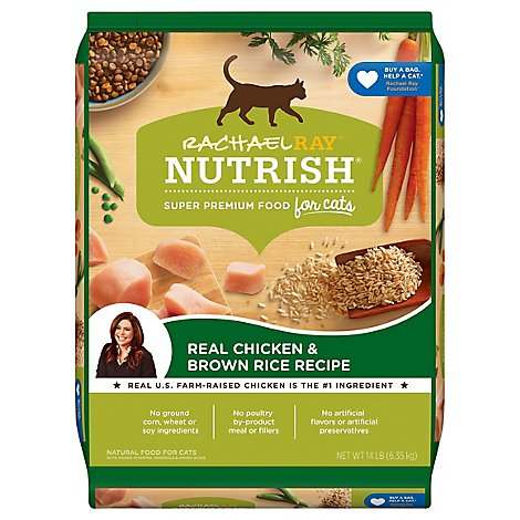 Rachael Ray Nutrish Super Premium Dry Cat Food Real Chicken & Brown Rice Recipe - 14 Lb