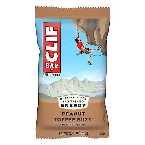 CLIF Energy Bar Peanut Toffee Buzz - 2.4 Oz