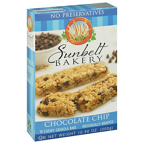 Sunbelt Bakery Granola Bars Chewy Chocolate Chip - 10 Count