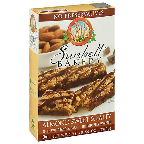Sunbelt Bakery Granola Bars Chewy Almond Sweet & Salty - 10 Count