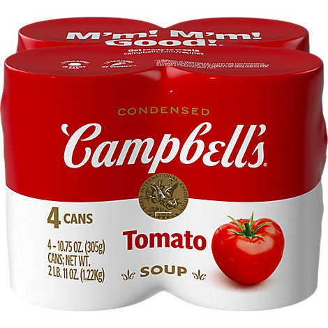 Campbells Soup Condensed Tomato Cans - 4-10.75 Oz