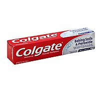 Colgate Toothpaste Anticavity Fluoride Baking Soda & Peroxide Whitening Brisk Mint Paste - 8 Oz