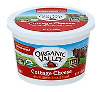 Organic Valley Cheese Organic Cottage Small Curd 4% Milkfat - 1 Lb