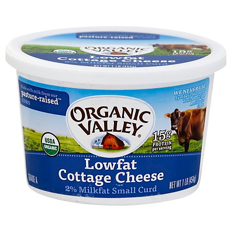 Organic Valley Cottage Chse Lf Org - 16 Oz