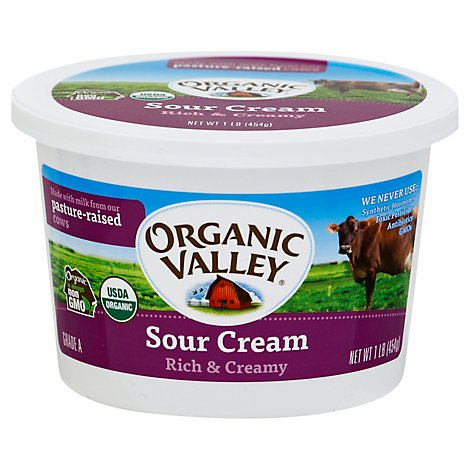 Organic Valley Sour Cream Rich & Creamy - 1 Lb