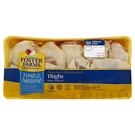 Foster Farms Bone In Chicken Thighs Value Pack - 5.5 Lbs.