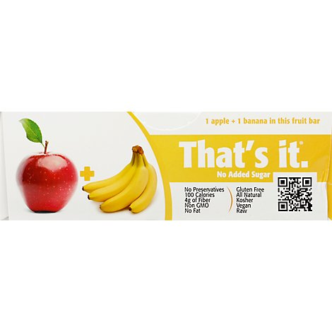 Thats Fruit Bar Apple Banana - 35 Gram