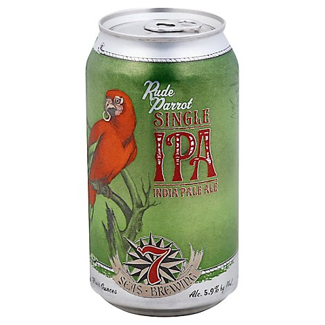 7 Seas Rude Parrot Single Ipa In Cans - 6-12 Fl. Oz.