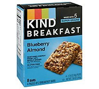 KIND Breakfast Breakfast Bars Blueberry Almond - 4-1.8 Oz