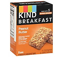 KIND Breakfast Breakfast Bars Peanut Butter - 4-1.8 Oz