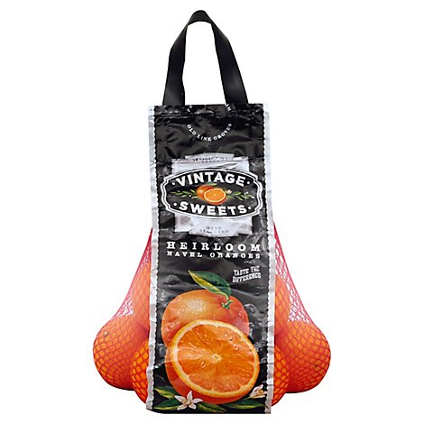 Vintage Sweets Heirloom Navel Oranges Deliciously Sweet - 3 Lb
