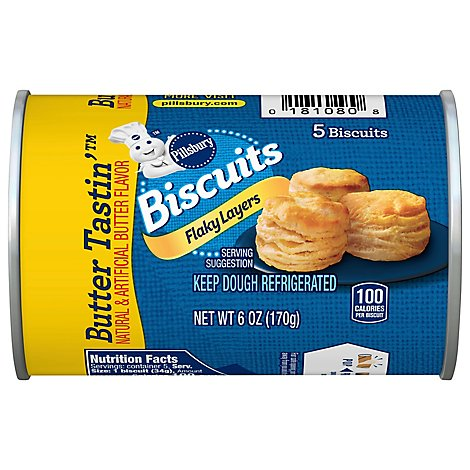 Pillsbury Grands! Jr Biscuits Golden Layers Flaky Butter Tastin 5 Count - 6 Oz