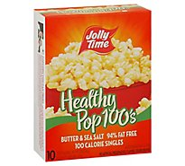 Jolly Time Healthy Pop Microwave Popcorn Butter Flavor 100 Calorie - 10-1.2 Oz