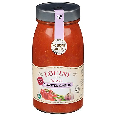 Lucini Sauce Organic Marinara Roasted Garlic Jar - 25.5 Oz