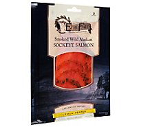 Echo Falls Salmon Sockeye Cold Smoked Lemon Pepper - 4 Oz