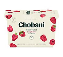 Chobani Yogurt Greek Fruit On The Bottom Non-Fat Raspberry - 4-5.3 Oz