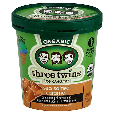 Three Twins Ice Cream Salted Caramel - 1 Pint