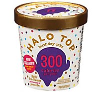 Halo Top Ice Cream Light Birthday Cake - 1 Pint