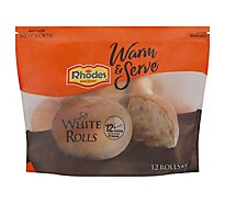 Rhodes Warm N Serv White Rolls Soft Yeast Rollls 12 Count - 23 Oz