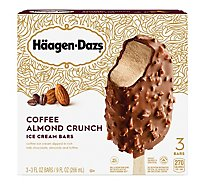 Haagen-Dazs Ice Cream Bars coffee almond crunch - 3-3 Fl. Oz.