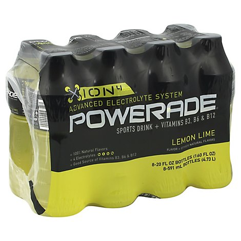POWERADE Sports Drink Electrolyte Enhanced Lemon Lime - 8-20 Fl. Oz.