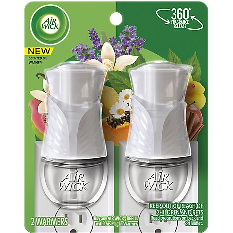 Airwick Scented Oil Warmer Gadget Twin Pack - 2 Count