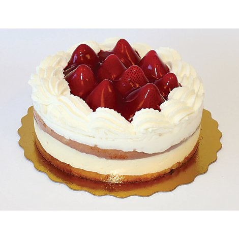 Bakery Cake Boston Cream Strawberry Better Crme - Each