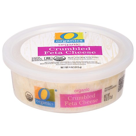 O Organics Organic Cheese Feta Crumbled - 4 Oz