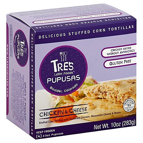 Tres Pupusas Chicken & Cheese - 10 Oz