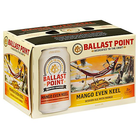 Ballast Point Even Keel Mango Session IPA Craft Beer Cans 3.8% ABV - 6-12 Fl. Oz.