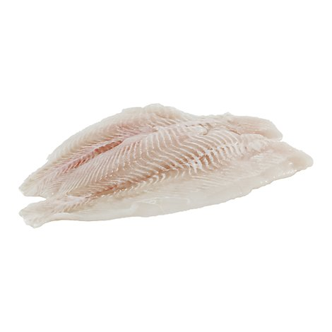 Seafood Counter Fish Flounder Fillet Previously Frozen Service Case - 1.00 LB