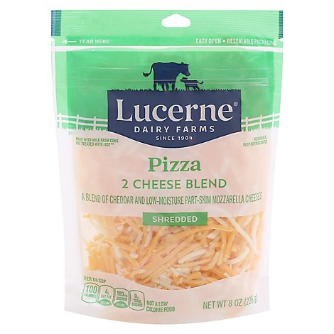 Lucerne Cheese Shredded Pizza 2 Cheese Blend - 8 Oz