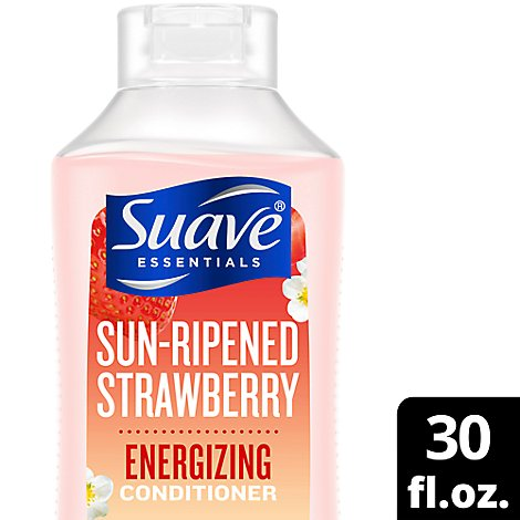 Suave Essentials Conditioner Sun-Ripped Strawberry Family Size - 30 Fl. Oz.