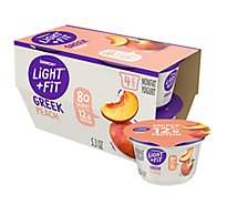 Dannon Light & Fit Greek Yogurt Peach - 4-5.3 Oz