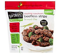 Gardein Meat-Free Meals Beefless Strips Sizzling Szechuan Sauce Pack Included - 10.6 Oz