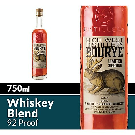 High West Whiskey Blend Bourye Straight 92 Proof - 750 Ml