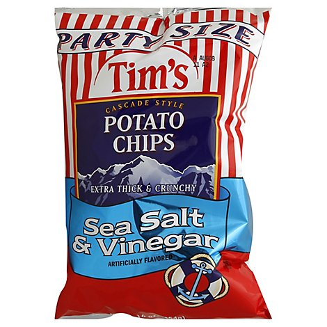 Tims Potato Chips Cascade Style Sea Salt & Vinegar - 16 Oz