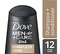 Dove Men+Care Shampoo + Conditioner 2 In 1 Complete Care - 12 Fl. Oz.