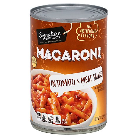 Signature SELECT Macaroni & Beef In Tomato Sauce - 15 Oz