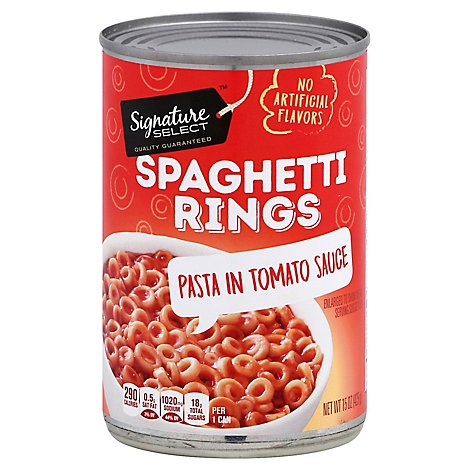 Signature SELECT Spaghetti Rings In Tomato Sauce - 15 Oz