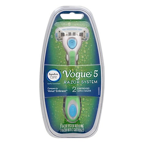 Signature Care Vouge 5 Razor System Plus One Cartridge - Each