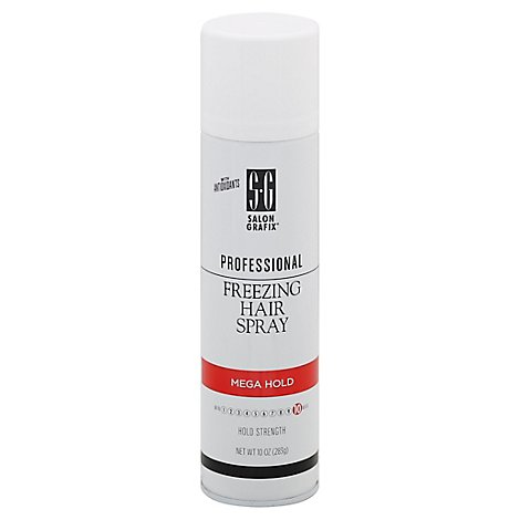 Salon Grafix Freezing Mega Hold Hair Spray - 10 Oz