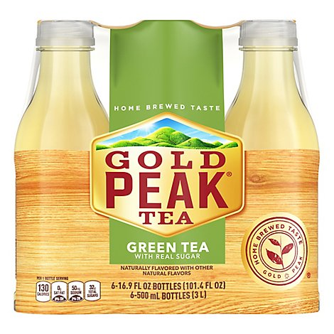 Gold Peak Tea Green Iced - 6-16.9 Fl. Oz.