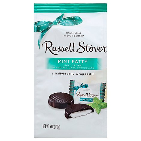 Russell Stover Chocolate Mint Patties Dark Chocolate - 6 Oz